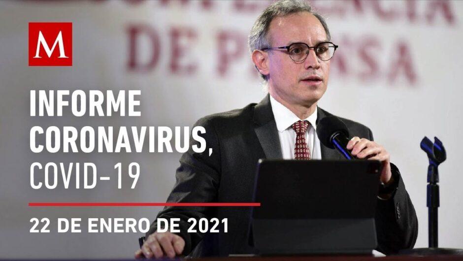 Informe diario por coronavirus en México, 22 de enero de 2021
