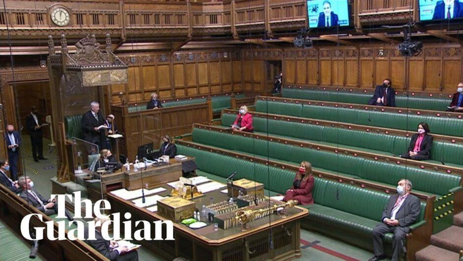 Priti Patel updates parliament on coronavirus travel restrictions – watch live
