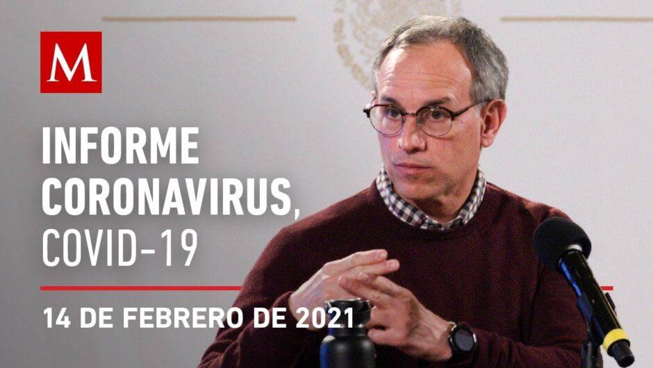 Informe diario por coronavirus en México, 14 de febrero de 2021