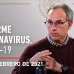 Informe diario por coronavirus en México, 26 de febrero de 2021