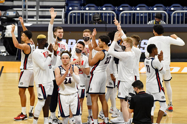 N.C.A.A. March Madness Live Updates: Gonzaga Men Cruise Into Sweet 16