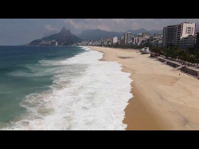 Río de Janeiro cierra las playas por coronavirus
