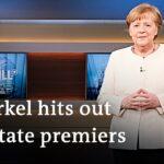 Angela Merkel pushes for tighter coronavirus restrictions in Germany   DW News