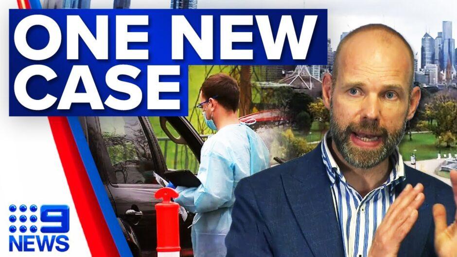 Victoria records one new COVID-19 case | Coronavirus | 9 News Australia
