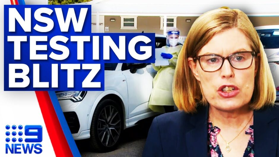 NSW COVID-19 testing blitz underway | Coronavirus | 9 News Australia