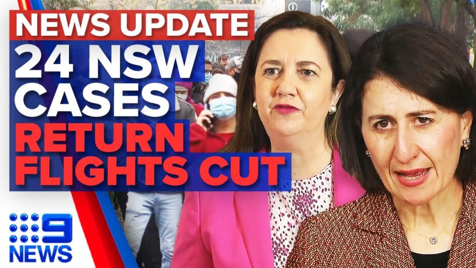 NSW records 24 new COVID-19 cases, leaders call for cut on international arrivals   9 News Australia