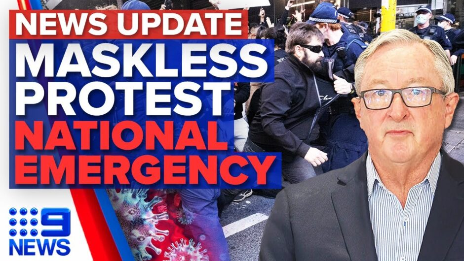 Anti-lockdown protesters swarm Sydney, NSW records highest daily COVID-19 numbers | 9 News Australia