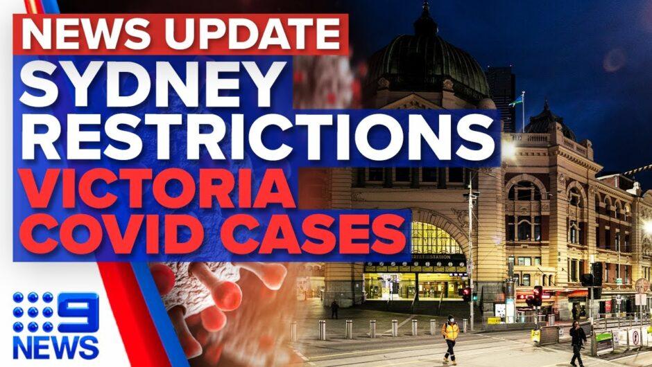 Sydney's tougher lockdown, Victoria records 16 new COVID-19 cases | 9 News Australia