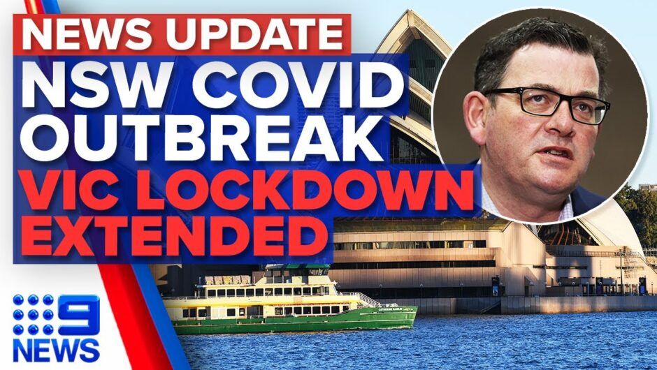 NSW records 98 new local COVID-19 cases, Victoria's lockdown extended | 9 News Australia
