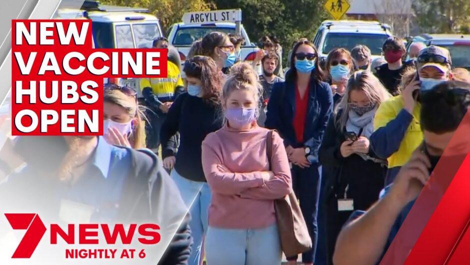 New coronavirus vaccination hubs open across New South Wales   7NEWS
