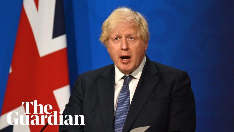 Coronavirus: Boris Johnson holds press conference as England lifts restrictions – watch live